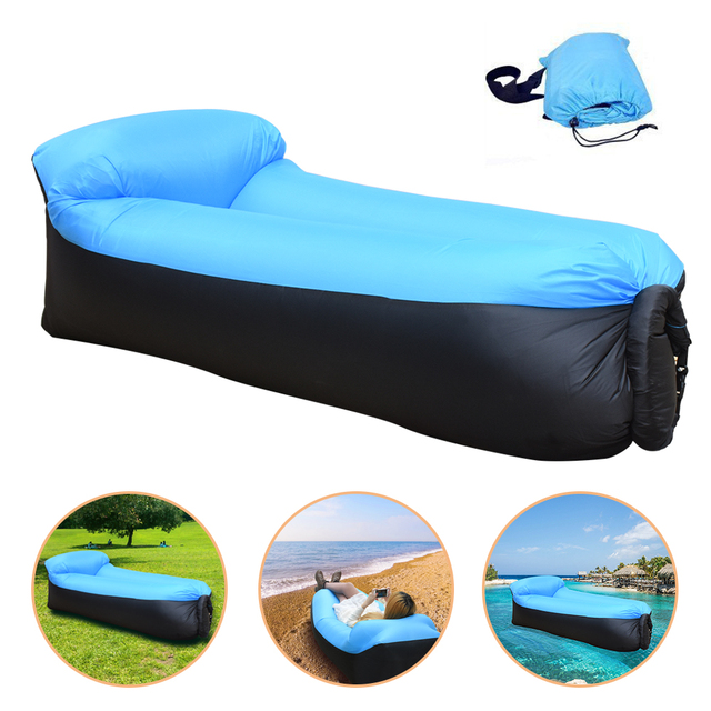 High Quality lazy Beach bed Air Sofa Lounge Camping of sleeping air lounger  inflatable Bed Lazy - Aliexpress.com : Buy High Quality Lazy Beach Bed Air Sofa Lounge