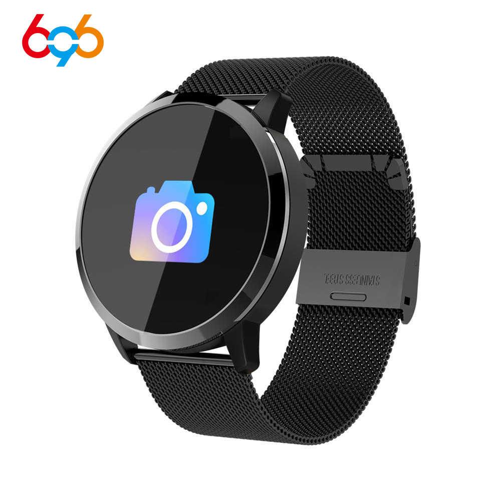 696 Q8 Для мужчин Смарт-часы Для мужчин Фитнес сердечного ритма Trackrt IP67 Водонепроницаемый браслет монитор Спорт браслет для IOS и Android