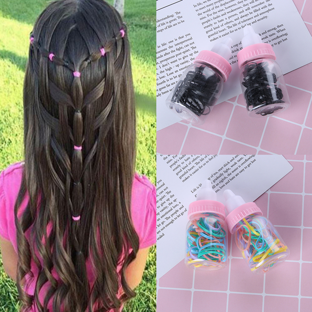 Colorful Girl S Fashion Elastic Rubber Band Ponytail Hair Rope Hair