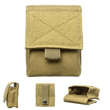 2019 New Military Molle Pouch Tactical Single Pistol Magazine Pouch Knife Flashlight Sheath Airsoft Hunting Ammo Camo Bags(China)