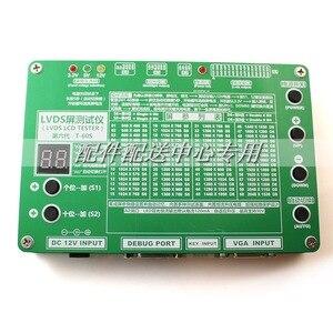 Image 2 - T 60S 6. Generacji Monitor Laptop TV LCD/Panel ledowy Tester 60 programów w/ VGA DC LVDS kable inwerter tablica LED 12v Adapter
