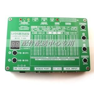 Image 2 - T 60S 6th nesil monitör dizüstü TV LCD/LED Panel test cihazı 60 programları w/ VGA DC LVDS kabloları invertör LED kurulu 12v adaptörü