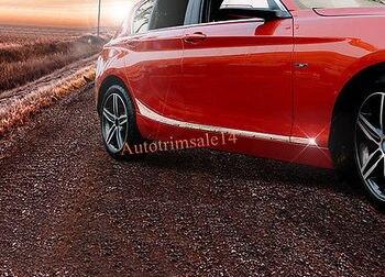 4PCS Steel Exterior Lower Side Door Mouldings For BMW 1 Series 12-17 F20 5-door