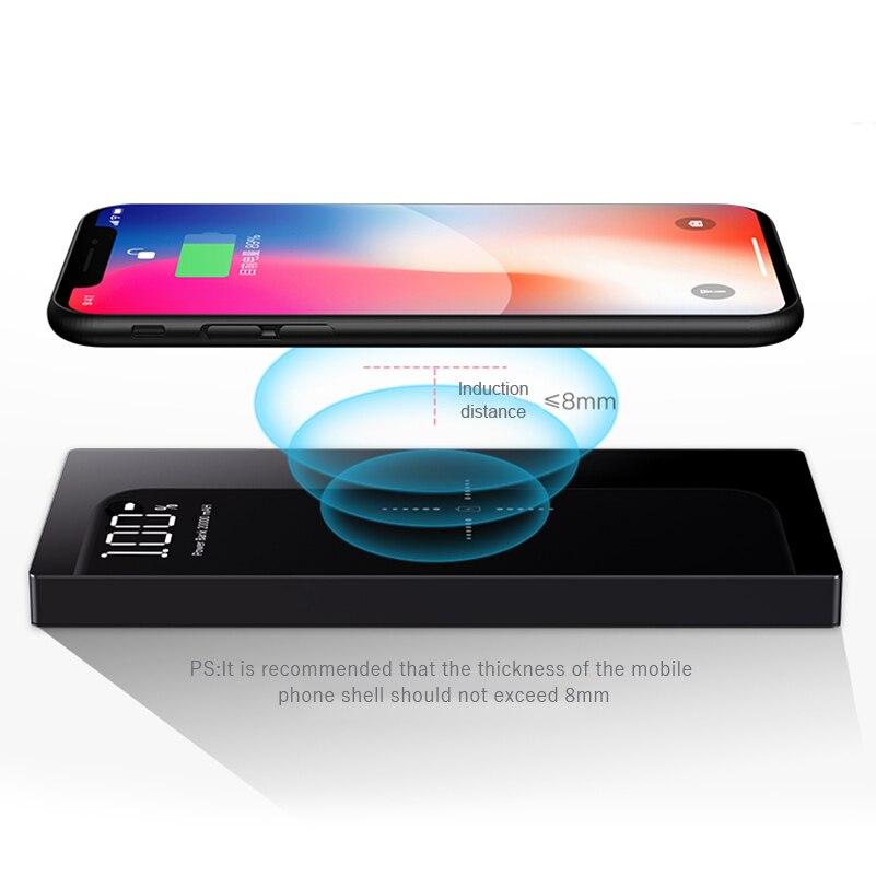 20000 mAh Charge Rapide 2A Power Bank Qi Sans Fil Chargeur Pour iPhone Xiao mi mi Rapide De Charge Externe Batterie Chargeur powerbank - 5