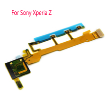 Original Microphone Volume Power on off Switch button Volume buttons kepad Flex Cable For Sony Xperia