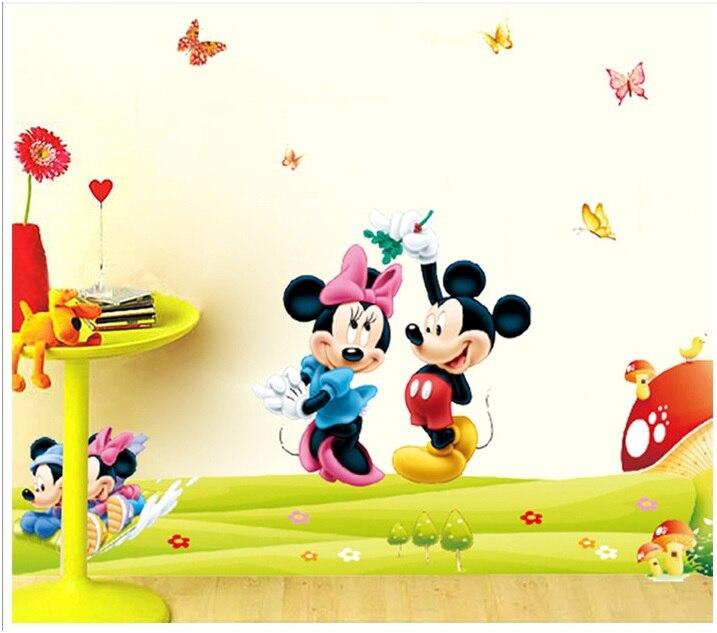 DIY Cartoon Kids Minnieu0026mickey Mouse Wall Stickers Art Baby Kids Room  Poster Cartoon Wallpaper Decal In Wall Stickers From Home U0026 Garden On  Aliexpress.com ... Part 56