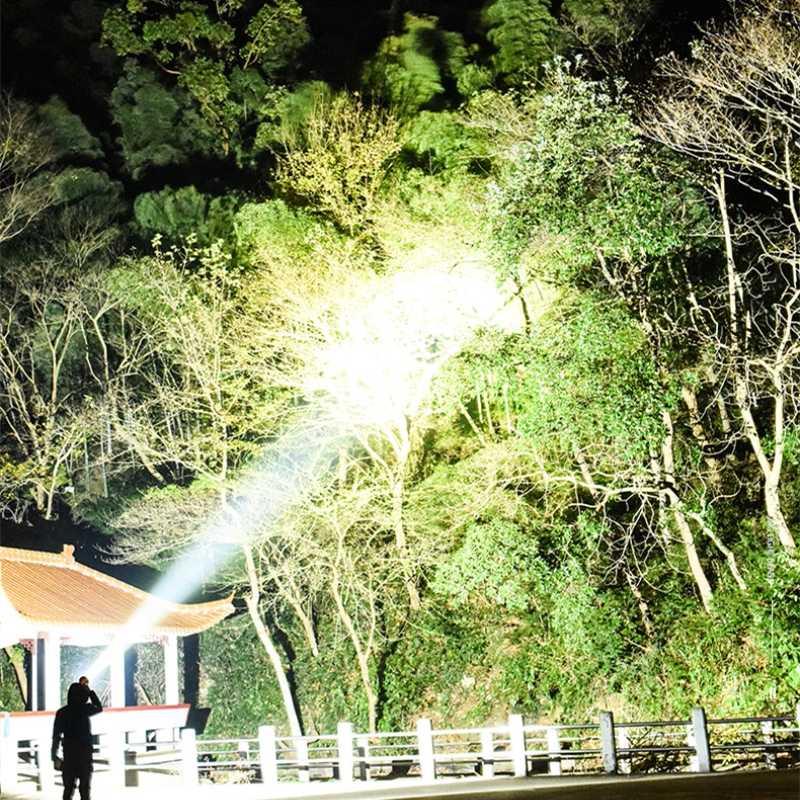 7000 lumens מנורת xhp70.2 החזק ביותר פנס usb זום led לפיד xhp70 xhp50 18650 או 26650 סוללה הטוב ביותר קמפינג, חיצוני