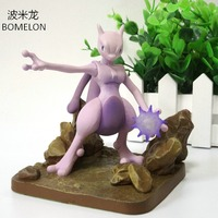 10CM Mewtwo Aciton Figures Anime Scene Puppets PVC Doll Pocket Monster Game Figures Toys Children Birthday