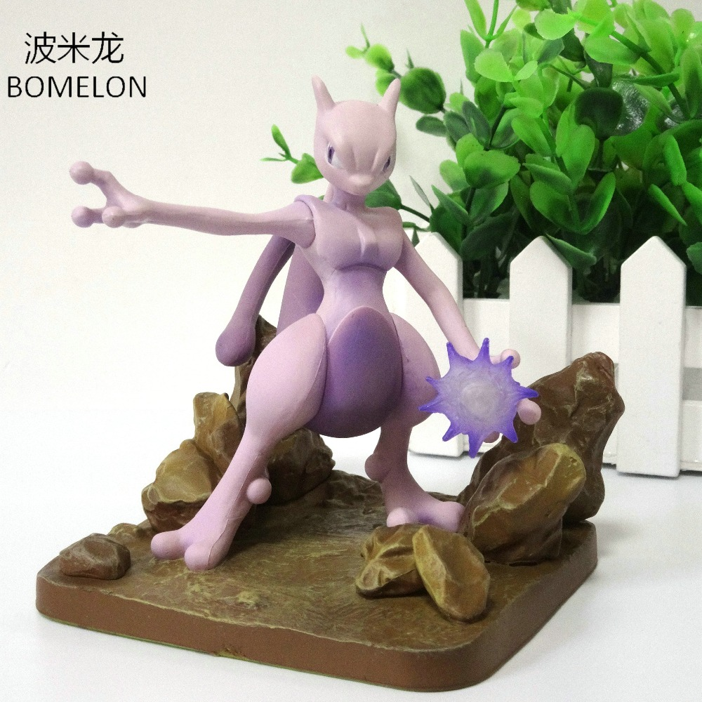 10CM Mewtwo Aciton Figures Anime Scene Puppets PVC Doll Pocket Monster Game Figures Toys children Birthday Christmas Gifts