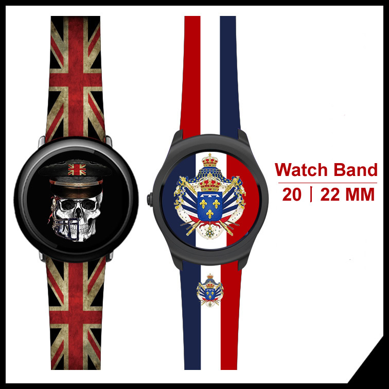 все цены на For Huami Amazfit 1 2 Genuine Leather Flag Style Watch Band For Samsung Gear S3 Gear Sport S2 Classic For Huawei Watch 2Pro онлайн