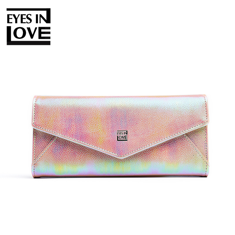 2019 Forever Young font b Laser b font Color Tri Fold Women Wallets New PU Leather