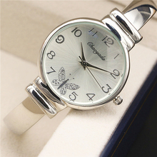 Nuevos Relojes de Las Mujeres Reloj de La Manera Elegante de Las Señoras de Plata Pulsera Reloj Montre Femme Cuarzo Reloj de la mujer Relojes Mujer 2016