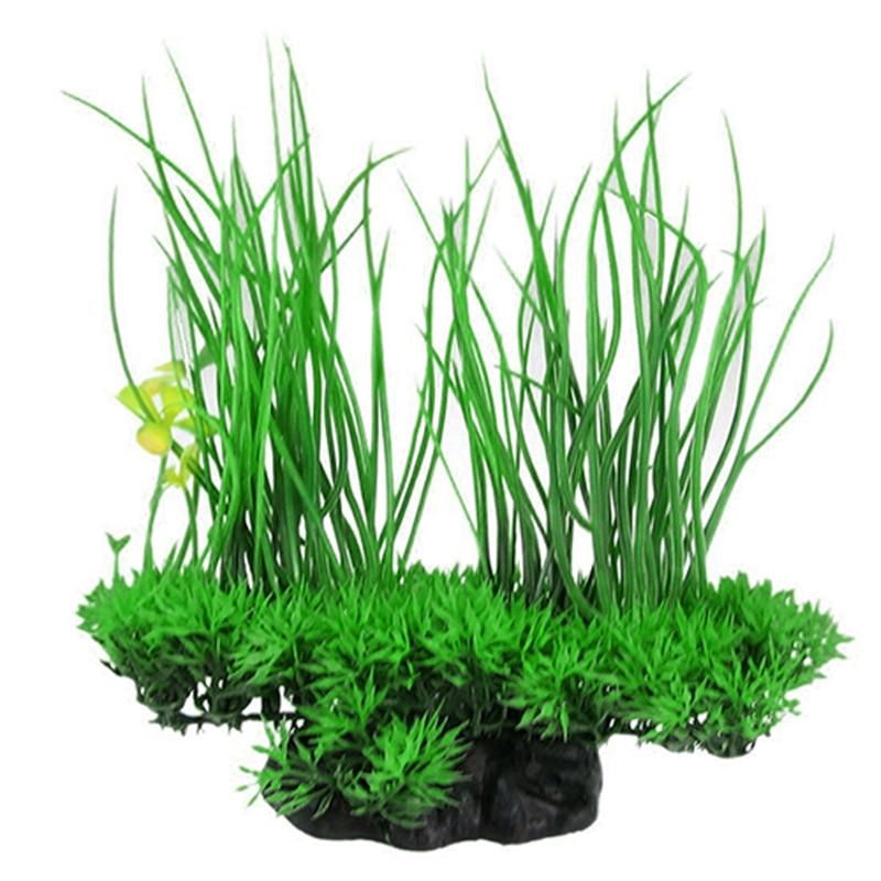 Romantisch Neue Ankunft Mode Grün Künstliche Decor Lange Blatt Pflanze Gefälschte Wasser Gras Für Aquarium Aquarium Gute Qualität Tropfen Verschiffen