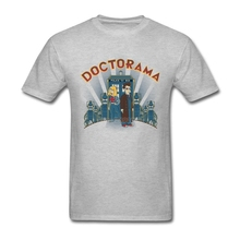 Doctorama Funny Cartoon Mens T Shirts Fashion 2017 Short Sleeve Brand-clothing Casual 3XL Cotton Doctor Who Science TV Men Shirt