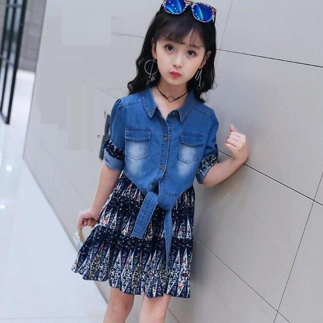5bba2f122 Moda Primavera 2018 Do Bebê Criança Crianças Menina Conjunto de Roupas  Meninas Roupas define Manga Longa