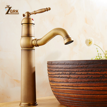 Vintage Style antique faucet tall bathroom faucets brass finish wash basin taps