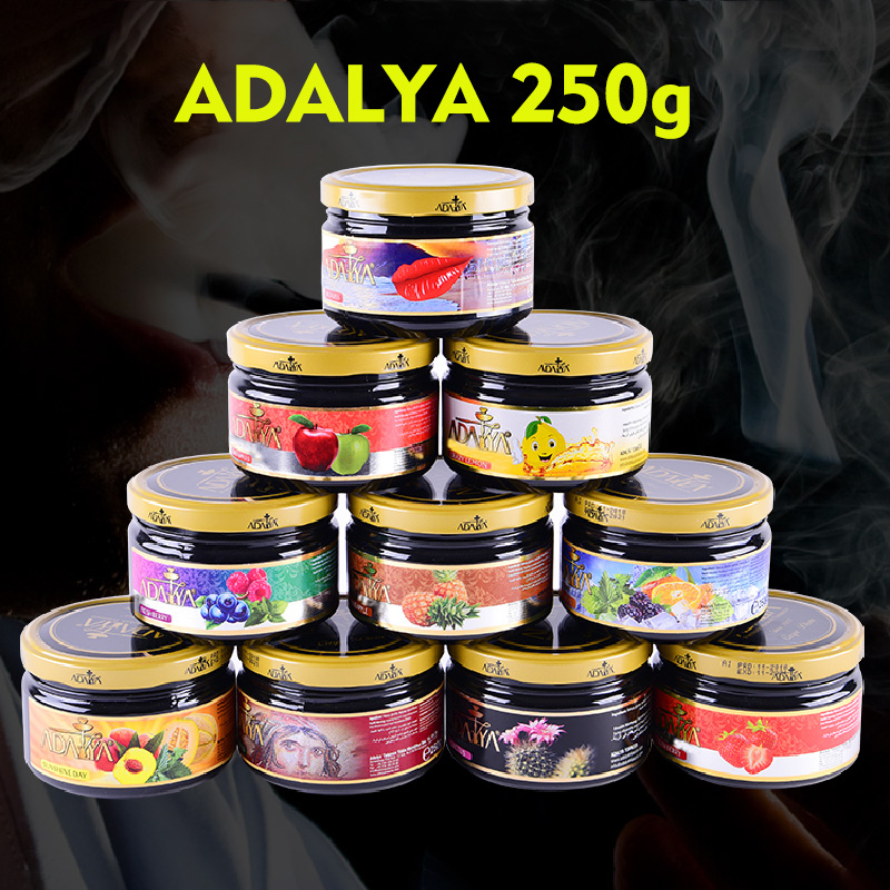 Turkey Tobacco Hookah Flavors Shisha Big Metal Glass Chicha Cigarette Tool Vapor Accessories Shisha Hose Holder 250g
