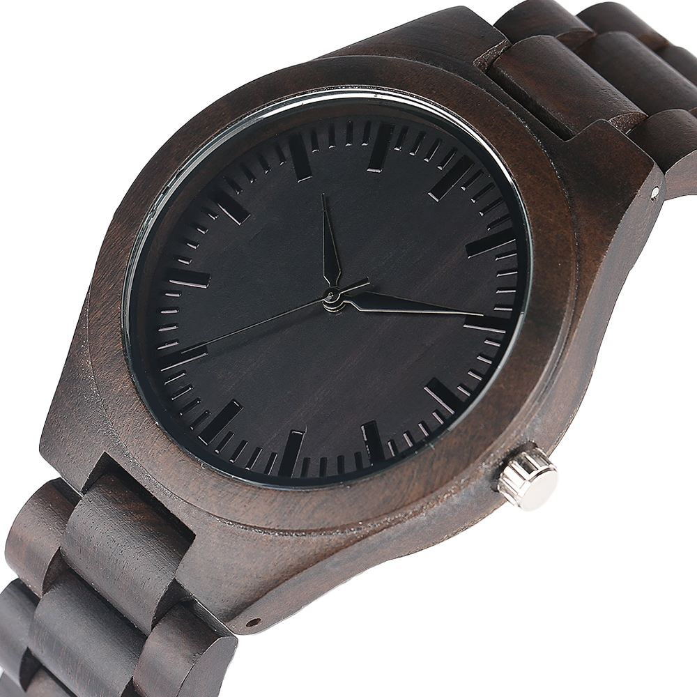 YISUYA Nature Bamboo Wood Creative Watches Men Casual Sport Wooden Quartz Wrist Watch Men Women Flod Clasp Band Bangle Clock  (3)