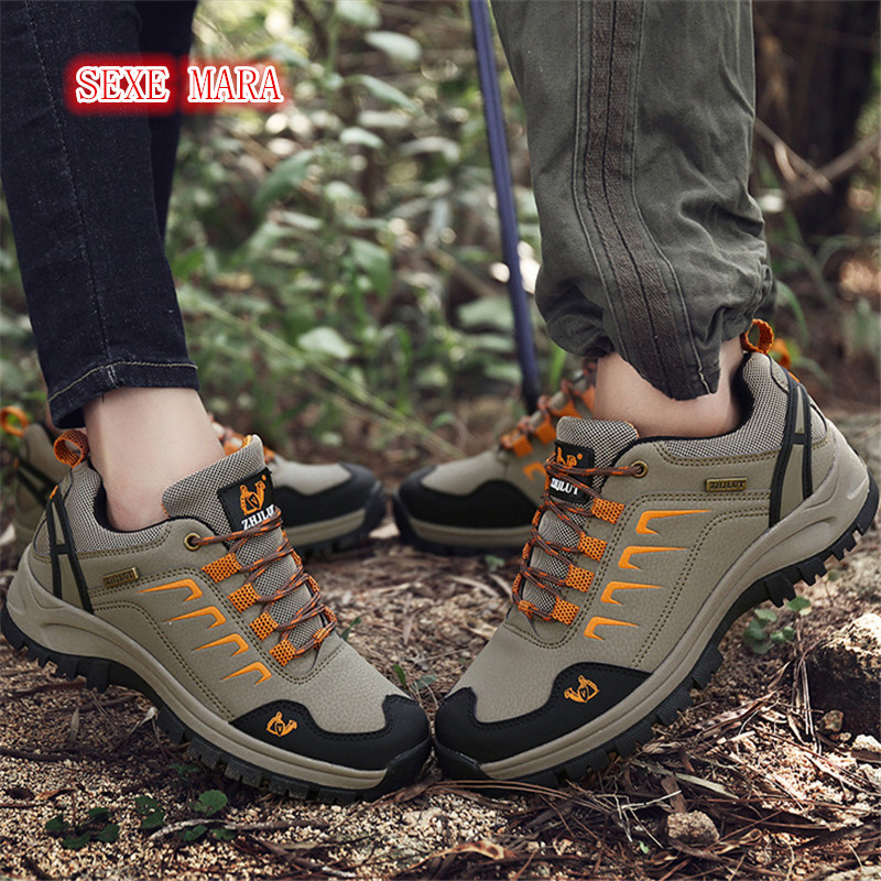 Outdoor Sneakers Women and Men Autumn Winter leather Sports Shoes antiskid Off-road Waterproof Trainers Walking Running Shoes man sneakers sports shoes leather running shoes black red jogging sneakers training shoes autumn winter running trainers