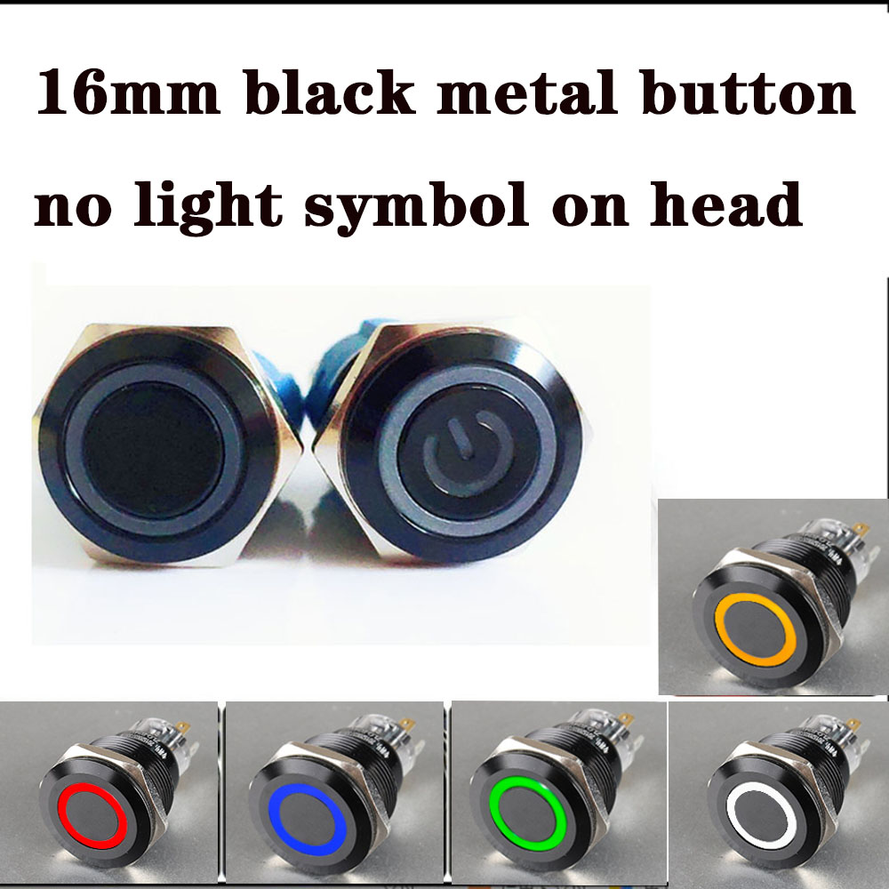 CNCCANEN 12mm Momentary Push Button Switch 1NO1NC ON//Off Metal Shell with White LED Ring 4 Pin for Car RV Truck Boat Size 3V Latching Green