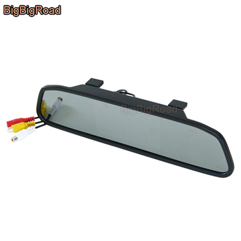 BigBigRoad 5 or 4.3 Inch Rear View TFT Color LCD Car Monitor / Backup Parking Reversing HD Display Screen / Rearview Mirror