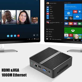 HLY Mini PC Fanless Core i5 4210Y Pentium 4405U Celeron 2955U Windows 10 Ubuntu VGA HDMI WiFi HTPC Barebone Office Mini Computer