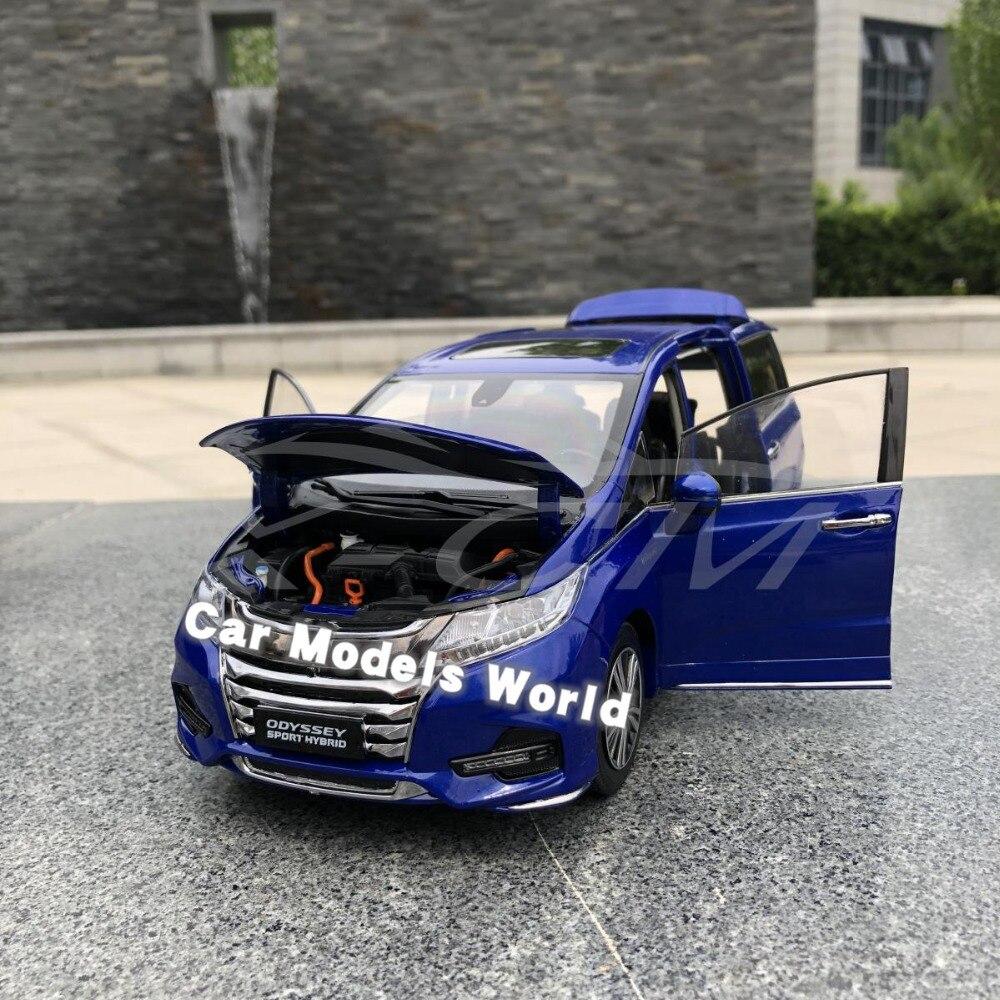 ¡Fundición modelo de coche para Odyssey deporte híbrido 1:18 (azul) + pequeño regalo!-in Troquelado y vehículos de juguete from Juguetes y pasatiempos    3