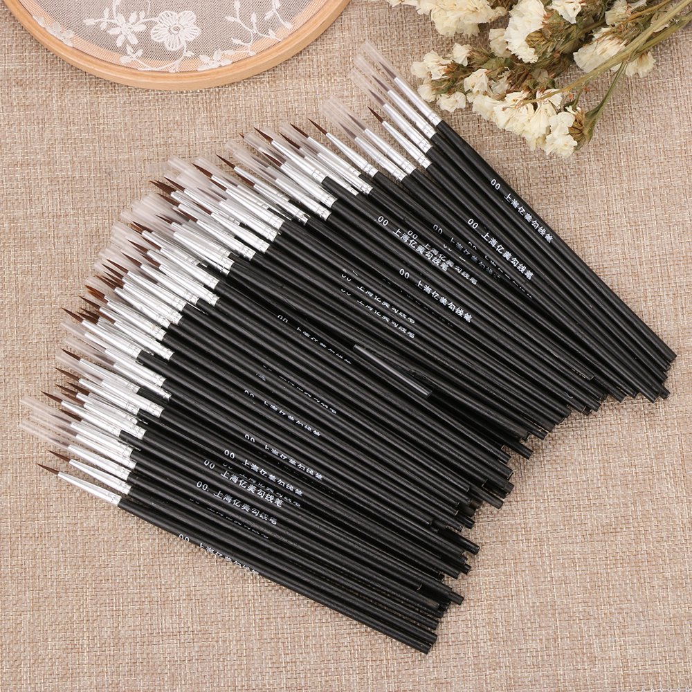 5Pcs/Set Black Fine Hand Painted Thin Hook Line Pen Nylon Brush Acrylic Painting Pen Drawing Art Pen Paint Brush Art Supplies