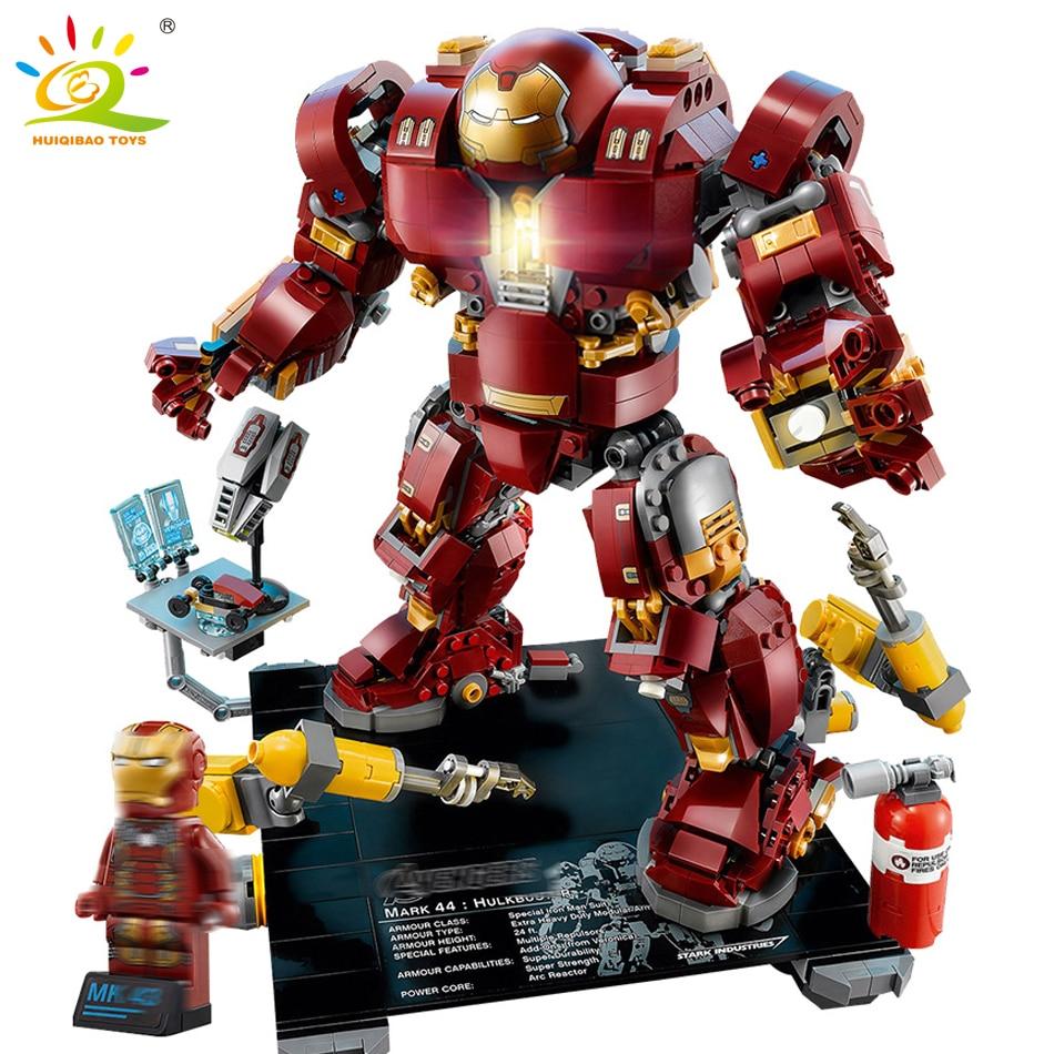 HUIQIBAO TOYS 1530pcs Infinity War Iron Man Building Blocks Children Educational Toys Compatible Legoed Marveled Avengers Bricks