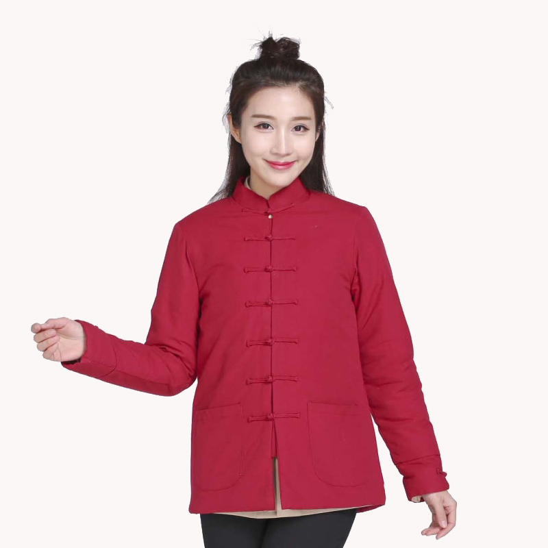 Winter New Come Women s Wadded jacket Traditional Chinese Tang Suit Coat Female Kung Fu Tai
