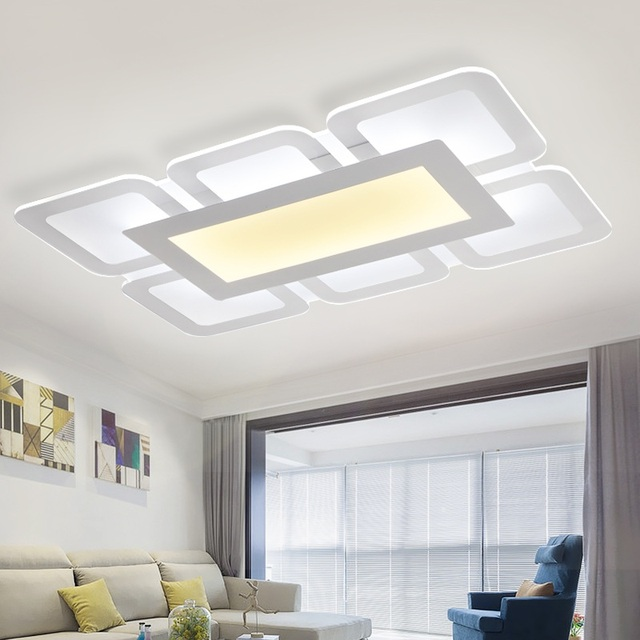 Ultra - thin LED new acrylic rectangular living room ceiling lamp modern simple creative square bedroom study Ceiling lights