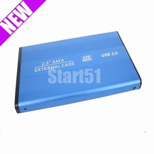 wholesale free shipping USB 2.0 2.5 HARD DRIVE HDD SATA EXTERNAL ENCLOSURE CASE
