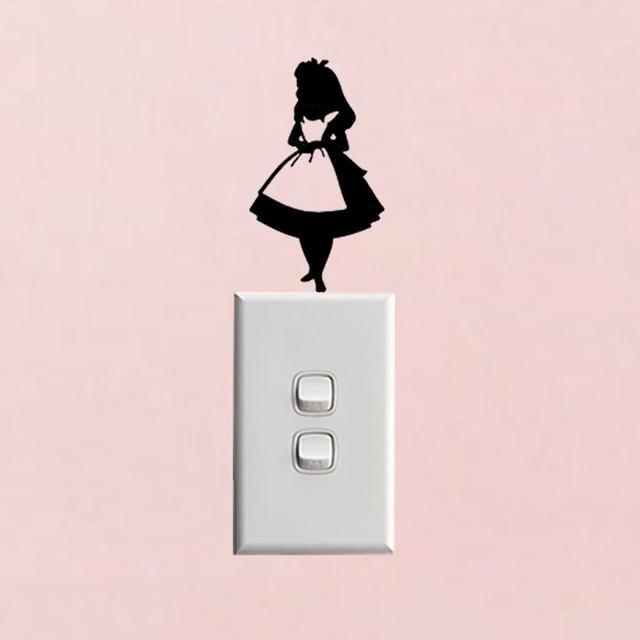 Alice Im Wunderland Lichtschalter Aufkleber Decor Fashion ...