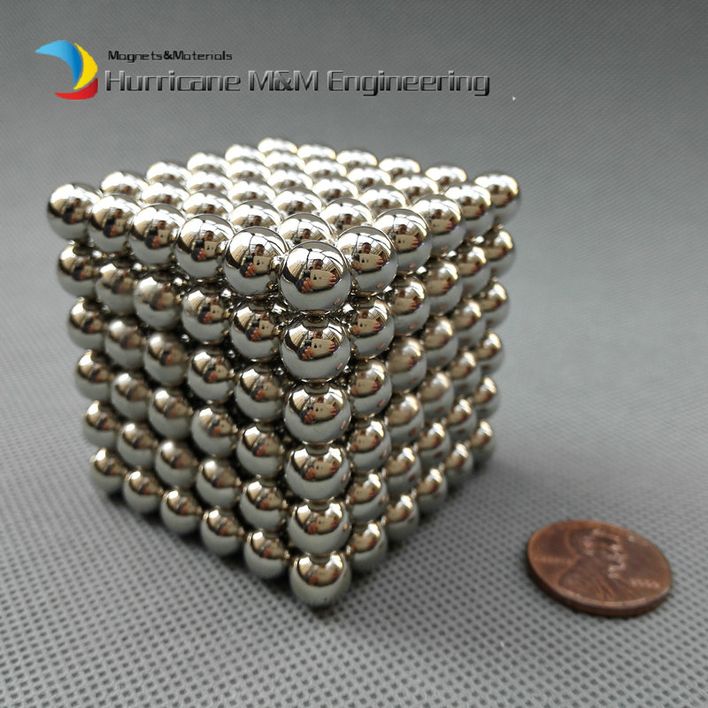 216 pcs NdFeB Magnet Balls 8mm diameter cube Strong Neodymium Sphere Permanent Magnets Rare Earth Magnets N42 NiCuNi Plated