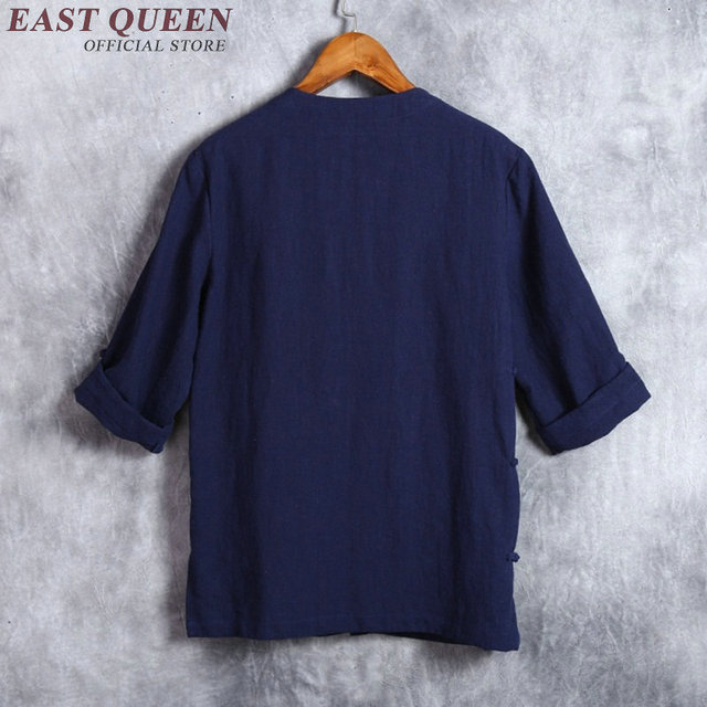 Traditional chinese linen shirt plus size S-4XL NN0553 HQ