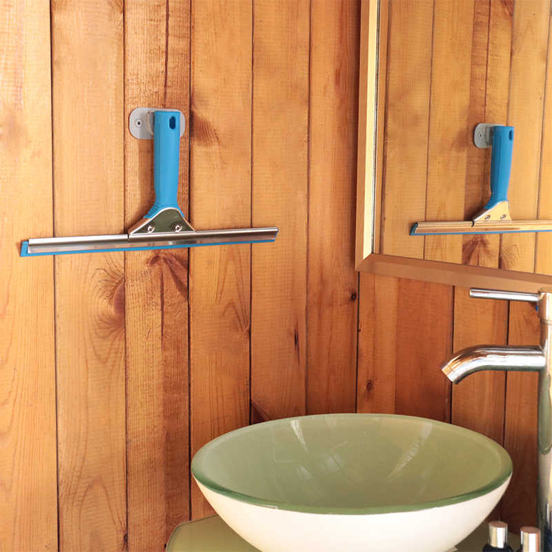 Roestvrij Staal Venster Zuigmond Glas Wisserreiniging Set Venster Schraper Cleaner Voor Douche Auto Spiegel Keuken Badkamer Vloer