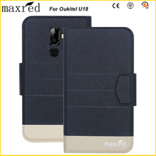 Original! Oukitel U18 Case 5 Colors High Quality Flip Ultra-thin Luxury Leather Protective For