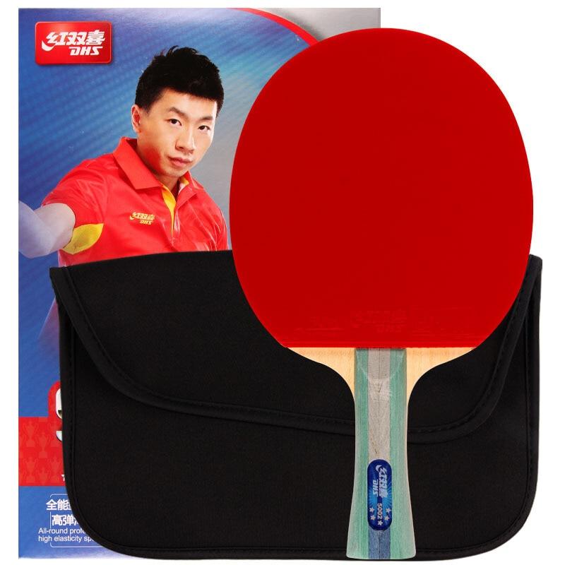 Raquette de Ping-Pong cinq étoiles 5002/5006 picots de Ping-Pong tout autour en bois pur