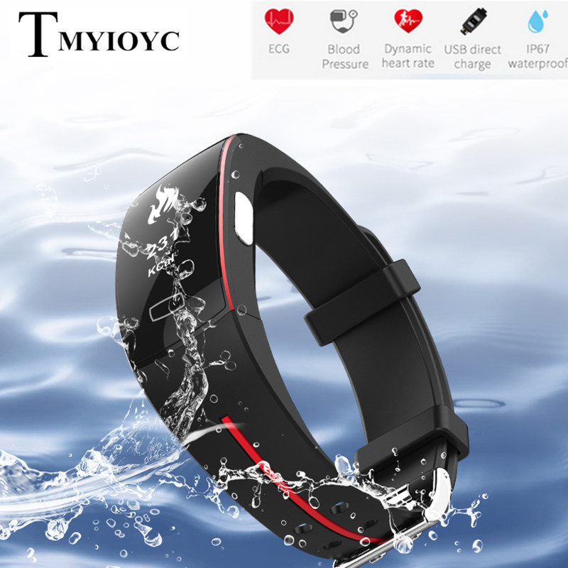 P3 Heart Rate Smart Band IP67 waterpoof Activity tracker Sport Fitness Bracelet Heart Rate Blood Pressure ECG+PPG Monitor Watch