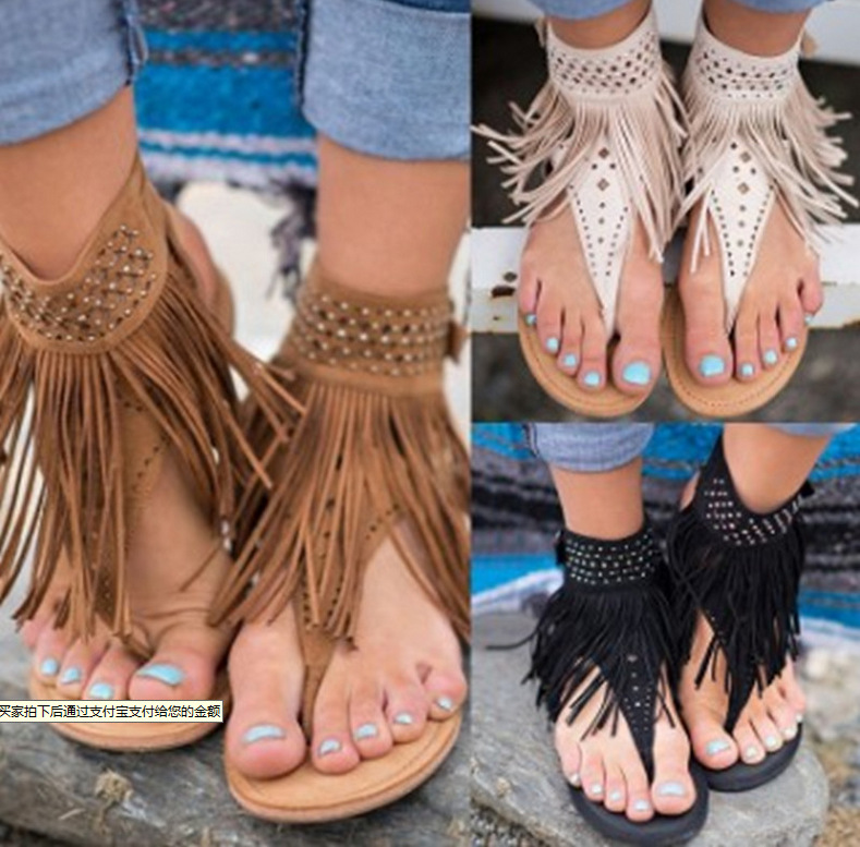 35 Gland Grande brown De 2018 Zapatos 43 Femmes Mujer Rome Mode Black Taille beige Tongs Vente D'été Chaussures Sandales Qiujin YFqpZ8wBn