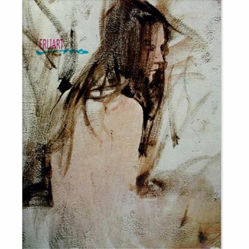 Elegant Fuzzy Beautiful Women Back Painting Famous Figure ...