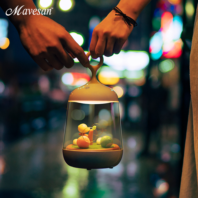 Creative Lovely LED Night Light music lamp Rechargeable Touch Dimmer Desk table bird lights as a gift to friends night lamps led night lamp decorate dream bluetooth voice speaker christmas ever fresh flower creative music box rechargable desk light gift
