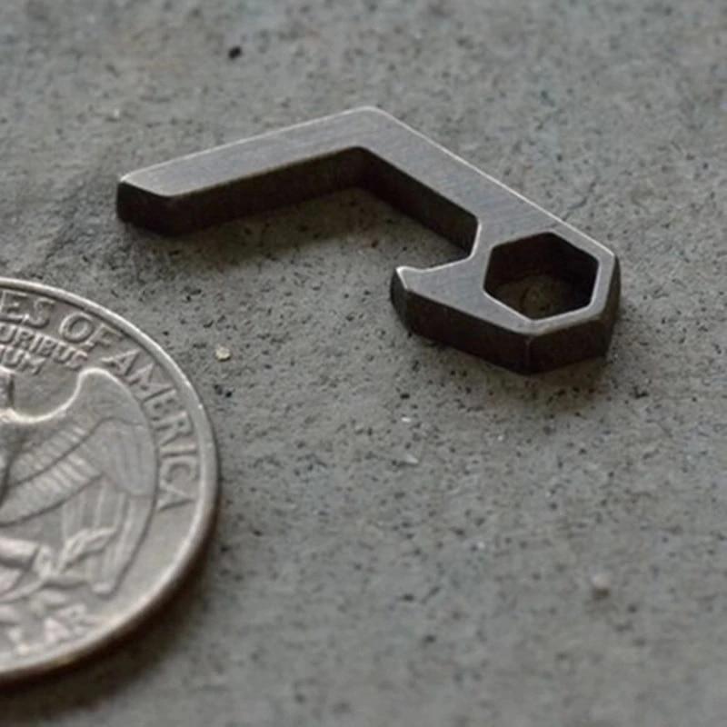 EDC Titanium Mini Bottle Opener Keychain Outdoor Pocket Lightweight Gadget Tools