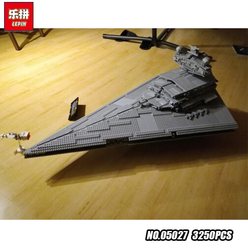 LEPIN 05027 Star 3250Pcs Wars Emperor fighters starship Model Building Kit Blocks Bricks Educational DIY Toy Compatible 10030 lepin 05035 star wars death star limited edition model building kit millenniums blocks puzzle compatible legoed 75159