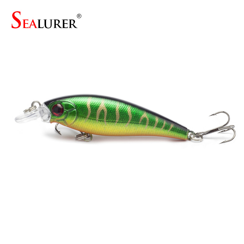 SEALURER  Minnow Fishing Lure With 6# Hooks Fish Wobbler Pesca Tackle Crankbait Artificial  Hard Bait Swimbait new 12pcs 7 5cm 5 6g fishing lure minnow hard bait sea fishing tackle crankbait fishing kit jig wobbler lures bait with hooks