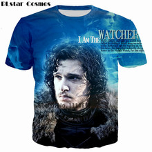 PLstar Cosmos Game of Thrones The white walkers Ghost 3D Print Men/Women T-shirt casual mens tshirt Tops Tees Cool t shirt