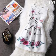 0cda807a8ef Летний стиль 2018 Мода A-Line женское Макси Вечеринка Повседневные  винтажные платья с принтом без