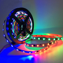 цена на 12V 5m/roll RGB LED Strip Light WS2811 IC Individually Addressable Marquee 2811 30 60 pixels/leds/m wireless control Waterproof