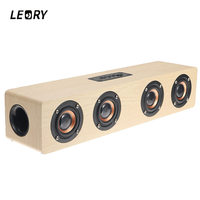 LEORY Luxury Wooden Bluetooth Speaker Wireless 12W USB Charging Bluetooth TF Card AUX Mode Music Player