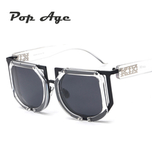 Pop Age Newest Celebrity Driving Brand Steampunk Windproof Sunglasses Men Women Goggle Polarized Sun Glasses High quality Oculos
